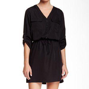 Max Studio Rolled Sleeve Shirt Dress